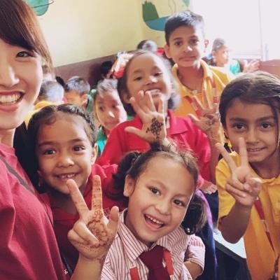 ネパールでチャイルドケアと教育 佐藤那奈子